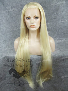 "30 inch Heat Safe Synthetic Straight Lace Front ""Hera"" in Ash Blonde, Synthetic Wig, Royal Crown Wigs"