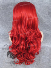 "26"" Heat Safe Synthetic Lace Front ""Constance"" with Curly Texture in Red, Synthetic Wig, Royal Crown Wigs"