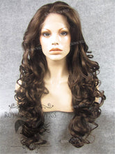 "26 inch Heat Safe Synthetic Lace Front in Curly Texture ""Calypso"" in Medium Brown Mix, Synthetic Wig, Royal Crown Wigs"