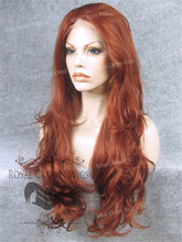 "26 inch Heat Safe Synthetic Lace Front ""Constance"" with Curly Texture in Royal Red, Synthetic Wig, Royal Crown Wigs"