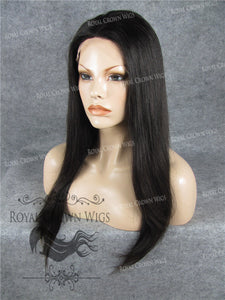 18 Inch Full Lace Human Hair Wig with Straight Texture in Natural Color, Human Hair Wig, Royal Crown Wigs