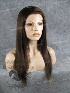 18 Inch Full Lace Human Hair Wig with Straight Texture in #4 Medium Brown, Human Hair Wig, Royal Crown Wigs