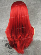 "24 inch Heat Safe Synthetic Straight Texture Lace Front ""Aphrodite"" in Red, Synthetic Wig, Royal Crown Wigs"