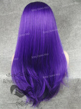 "24 inch Heat Safe Synthetic Straight Texture Lace Front ""Aphrodite"" in Purple, Synthetic Wig, Royal Crown Wigs"