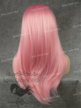 "24 inch Heat Safe Synthetic Straight Texture Lace Front ""Aphrodite"" in Pink, Synthetic Wig, Royal Crown Wigs"