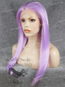 "24 inch Heat Safe Synthetic Straight Texture Lace Front ""Aphrodite"" in Lilac, Synthetic Wig, Royal Crown Wigs"