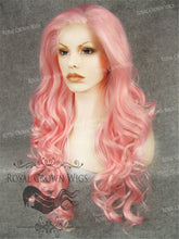 "26 inch Heat Safe Synthetic Lace Front in Curly Texture ""Calypso"" in Pink, Synthetic Wig, Royal Crown Wigs"