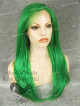 "24 inch Heat Safe Synthetic Straight Texture Lace Front ""Aphrodite"" in Green, Synthetic Wig, Royal Crown Wigs"