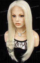 "24 inch Heat Safe Synthetic Straight Texture Lace Front ""Aphrodite"" in White/Platinum Blonde Mix, Synthetic Wig, Royal Crown Wigs"
