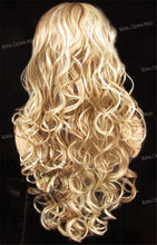 "26 inch Heat Safe Synthetic Lace Front in Curly Texture ""Calypso"" in Beach Blonde Mix, Synthetic Wig, Royal Crown Wigs"