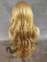 "26"" Heat Safe Synthetic Lace Front ""Constance"" with Curly Texture in Golden Blonde Mix, Synthetic Wig, Royal Crown Wigs"