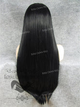 "30 inch Heat Safe Synthetic Straight Lace Front ""Hera"" in Black, Synthetic Wig, Royal Crown Wigs"