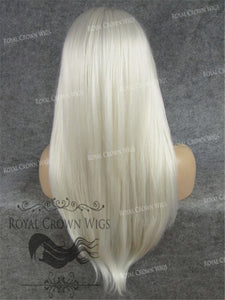 "24 inch Heat Safe Synthetic Straight Texture Lace Front ""Aphrodite"" in White, Synthetic Wig, Royal Crown Wigs"