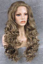 "26 inch Heat Safe Synthetic Lace Front in Curly Texture ""Calypso"" in Dark Blonde Mix, Synthetic Wig, Royal Crown Wigs"
