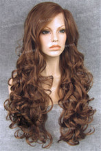 "26 inch Heat Safe Synthetic Lace Front in Curly Texture ""Calypso"" in Reddish Brown, Synthetic Wig, Royal Crown Wigs"