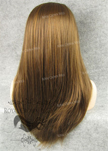 "24 inch Synthetic Straight Texture Lace Front ""Aphrodite"" in Light Chestnut Brown and Blonde Mix, Synthetic Wig, Royal Crown Wigs"