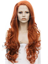 "26 inch Heat Safe Synthetic Lace Front ""Constance"" with Curly Texture in Copper, Synthetic Wig, Royal Crown Wigs"