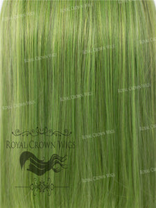 "24 inch Heat Safe Synthetic Straight Texture Lace Front ""Aphrodite"" in Galaxy Green, Synthetic Wig, Royal Crown Wigs"