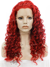 "20 inch Heat Safe Synthetic Curly Texture Lace Front ""Athena"" in Red, Synthetic Wig, Royal Crown Wigs"