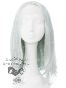 "17 inch Heat Safe Synthetic Lace Front ""Victoria"" Bob with Straight Texture in Winter Ice, Synthetic Wig, Royal Crown Wigs"
