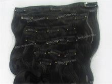 Brazilian 9 Piece Body Wave Human Hair Weft Clip-In Extensions in #1b, Clip-In Hair Extension, Royal Crown Wigs