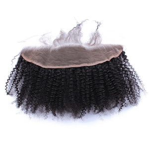 Mongolian Afro Kink Curly 13x4 Lace Frontal Closure With Baby Hair Pre Plucked Remy Weave Human Hair, Today Only Collection, Royal Crown Wigs