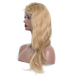 Blonde Lace Front Wig With Baby Hair Bleached Knots European Remy Hair Wigs 250% Density, Today Only Collection, Royal Crown Wigs