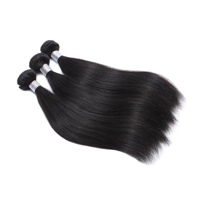 Straight Peruvian Human Hair 3 Bundles Deal 10-28 Inch Hair Weave Natural Color Remy Hair