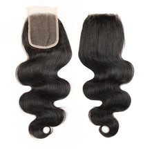 Peruvian Body Wave Human Hair Remy Bundles With Swiss Lace Closure