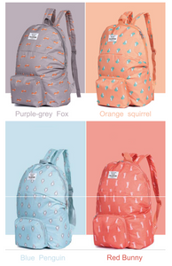 Foldable Backpack in 4 Animal Designs