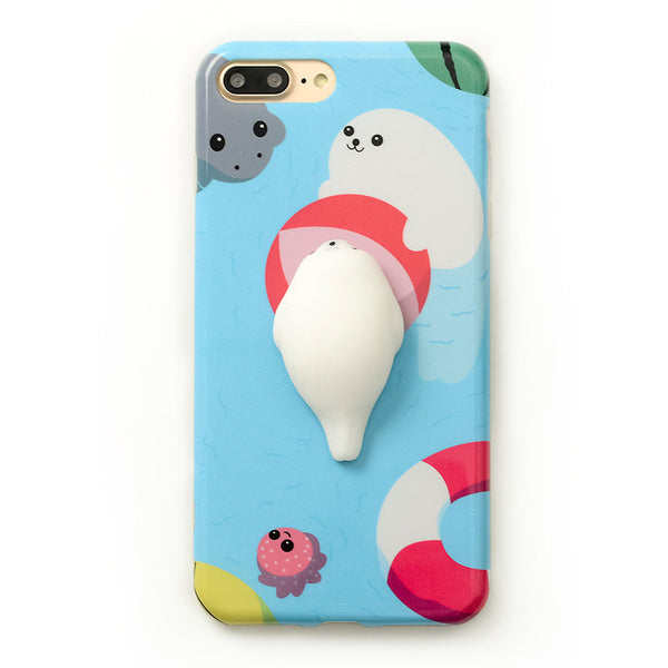 3D Soft Squishy Seal iPhone Case