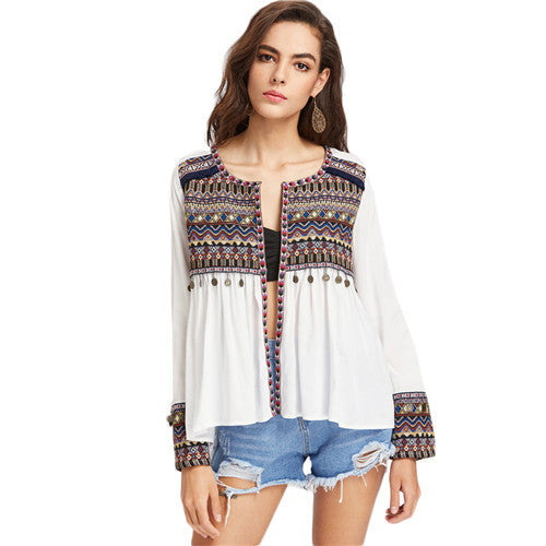 Boho Embroidery Blouse