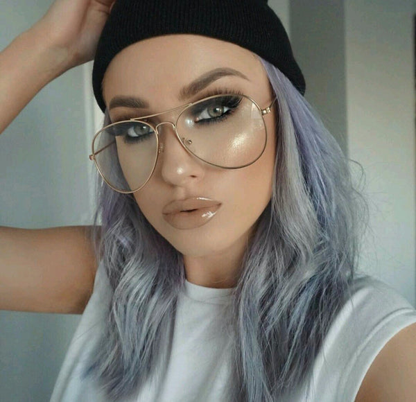 Clear Oversized Pilot Glasses