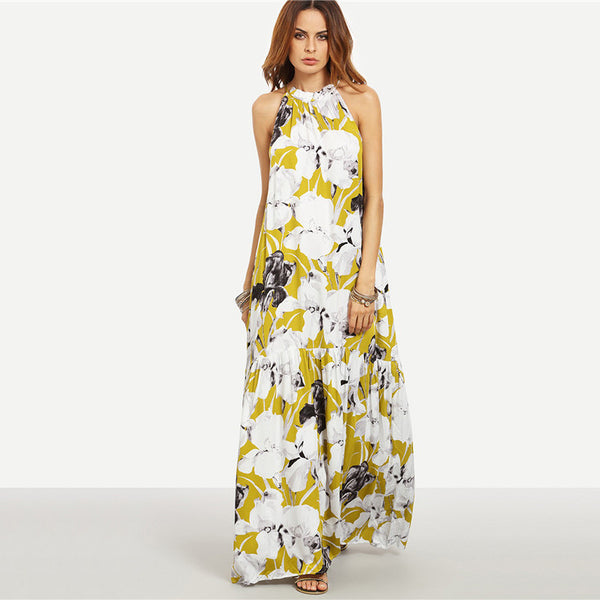 Floral Long Summer Dress