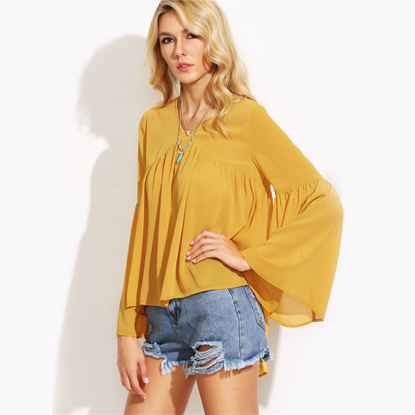 Autumn Mustard Blouse