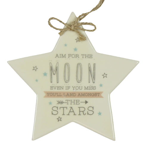 Aim for the moon ceramic star
