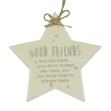 Good friends ceramic star