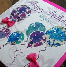 Floral Print Balloons - WCC Card