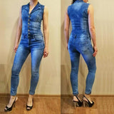 Shirt Jeans Rompers jumpsuit