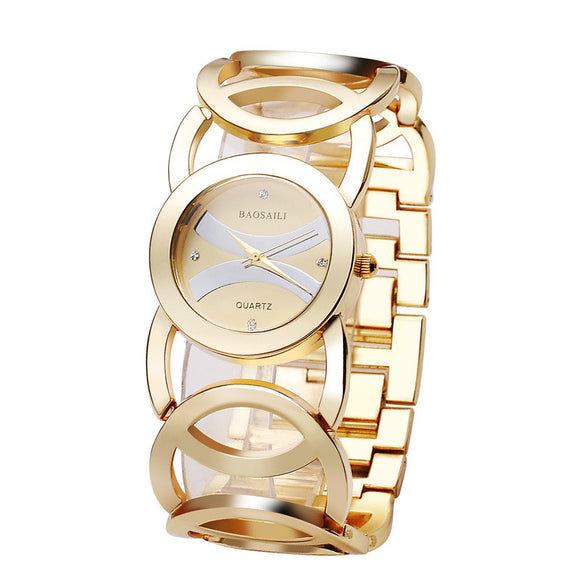 BAOSAILI Brand Luxury Crystal Gold Watches Women Ladies Quartz Wristwatches Bracelet Relogio Feminino Relojes Mujer BS001