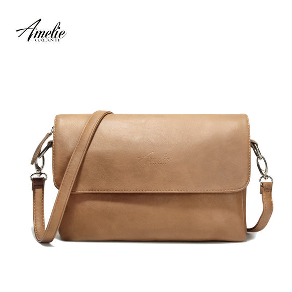 AMELIE GALANTI brand crossbody bag casual flap pu solid soft zipper cover  versatile single high quality 0bb3674979e4f