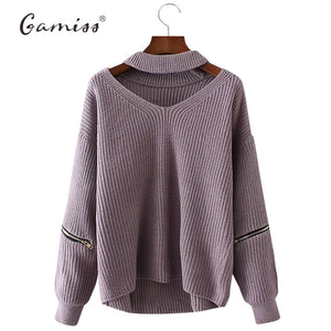 Gamiss Winter Spring Women Sweaters Pullovers Casual Loose Knitted Sweater Women Tricot Pullover Jumpers Oversized Mujer Sweater