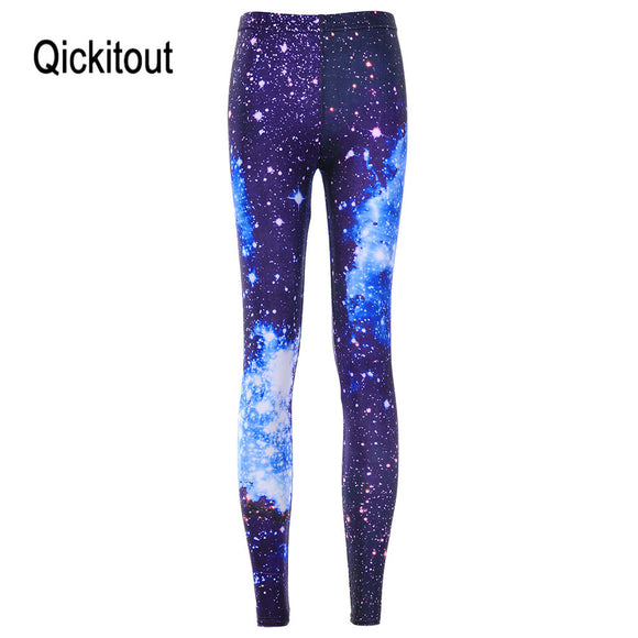 Wholesale Hot new Women Sexy Universe Galaxy Blue Printed Leggings Pants Elasticity Fashion Space Tie Dye Milk Silk S-XL