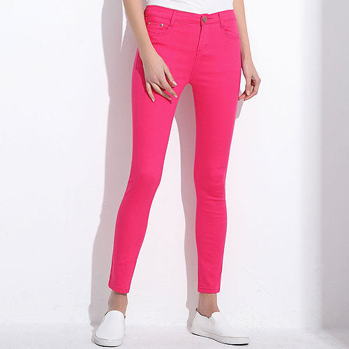Candy Slim Pencil Solid colour Stretch Jean Trousers