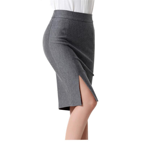 High Waist Stretch Above Knee Mini Pencil Skirt