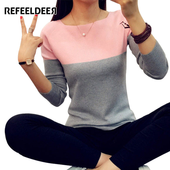 Refeeldeer Autumn Winter Sweater Women 2017 Knit High Elastic Jumper Women Sweaters And Pullovers Female Tricot Pull Femme Tops