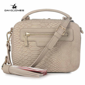 DAVIDJONES women crossbody bags designer bags PU serpentine envelope vintage crossbody shoulder purse evening bags Top-handle