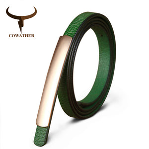 COWATHER Exquisite fashion style women belts cow genuine leather high grade quality alloy buckle new desgin free shipping