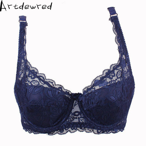 2017 Free Shipping Fashion New Sexy Ladies Sexy Underwear Full Coverage Minimizer Non Padded Lace Sheer Bra 9 Color 34-40 AB Cup