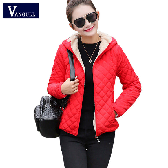 women winter jacket hooded fleece solid coat 2017 Autumn spring thin outerwear female short zipper student jaqueta feminina